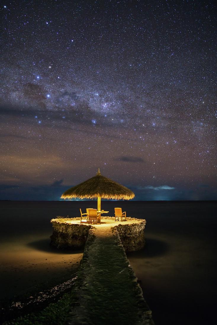 mindestens genauso schön wie der Sonnenuntergang, ist der nächtliche Sternenhimmel