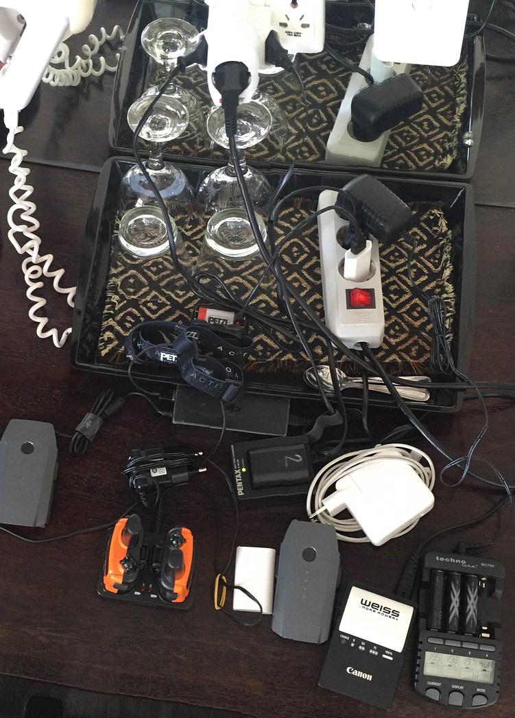 Geräte laden im Sea Breeze in Swakopmund