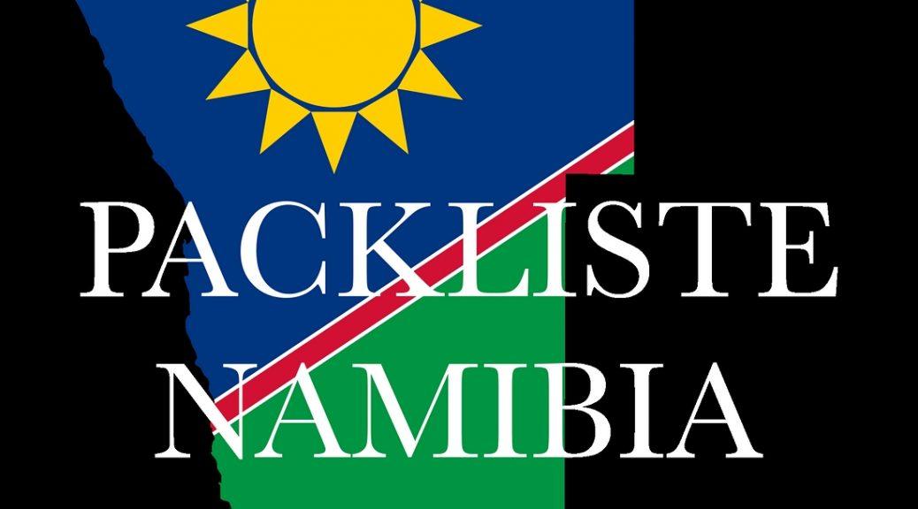 Packliste Namibia