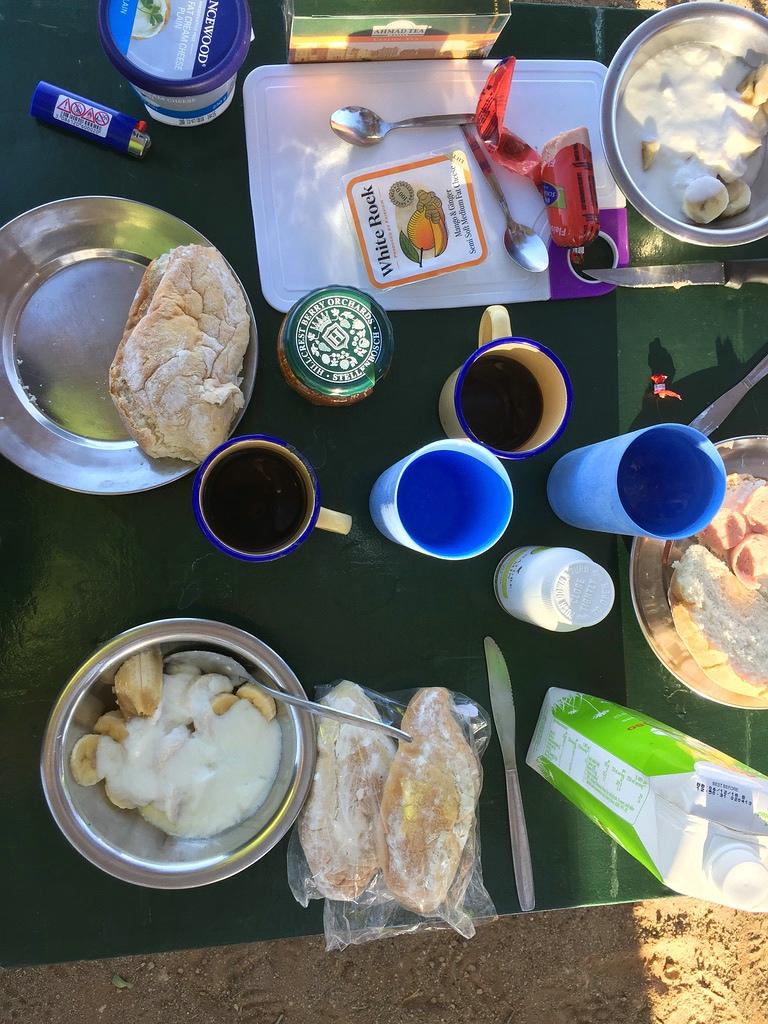 Frühstück Sesriem Campsite
