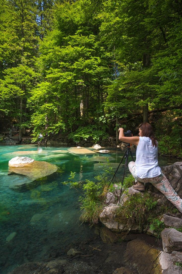 Fotografieren, Blausee