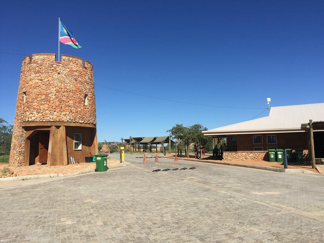 Galton Gate, Namibia, Etosha Nationalpark