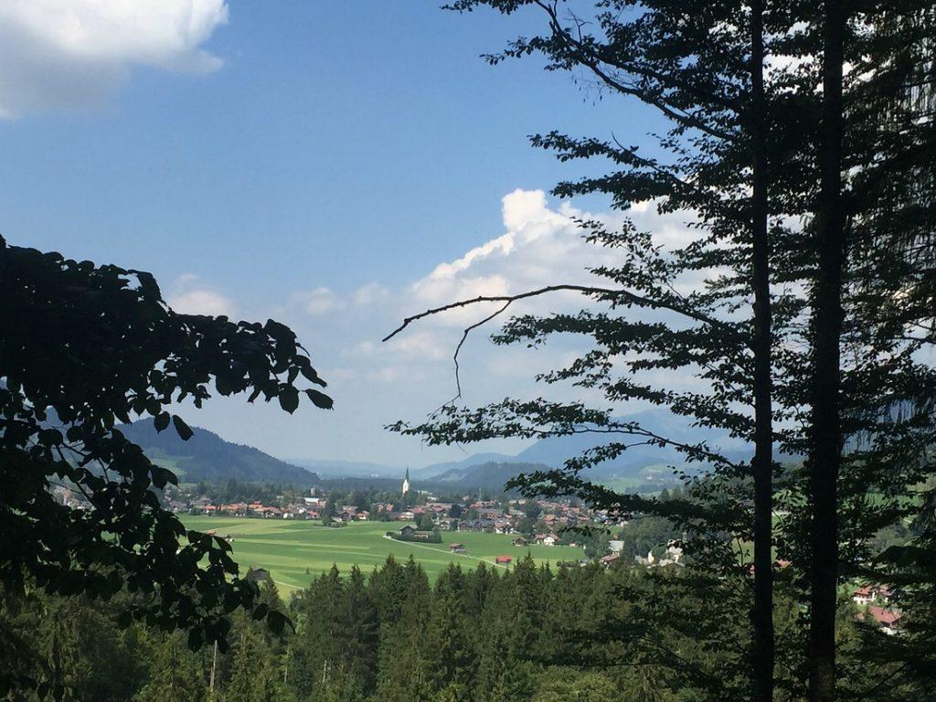 Freibergsee, Ausblick Oberstdorf