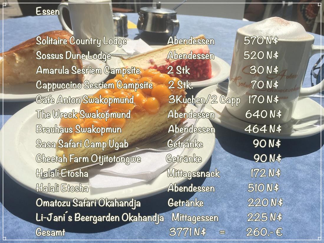 Essen und Trinken Namibia