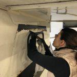 Folie entfernen, Tischer Wohnkabine 260S, Restaurierung, Reiseblog, Reiseberichte, Isuzu D-Max, Wasserschaden